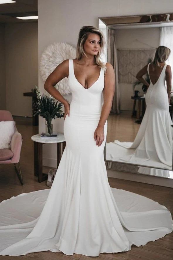 Wedding Dress Pretty Wedding Dresses Jcpenney Wedding Dresses Gray Bridesmaid Dresses Plus Size Wedding Outfits In 2020 Ruched Wedding Dress Backless Wedding Wedding Dresses