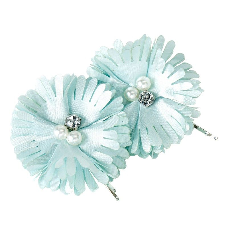 Pretty petals adorn your hair when you add these lovely clips. Satin flowers feature a cluster of pearlescent beads and rhinestones and slip easily into your hair when you are ready to add some pizzazz.