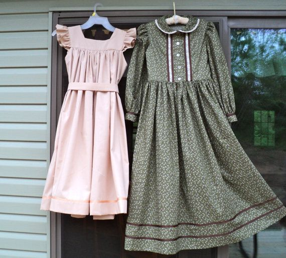 S Pioneer Prairie Calico Old Fashioned 1800 American History Costume Dress Caddy Made To Order