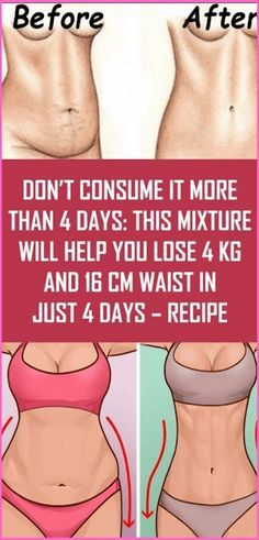Don't Consume It More Than 4 Days: This Mixture Will Help You Lose 4…