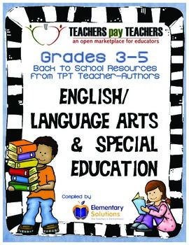 FREE! Grades 3-5 English Language Arts Back to School E-Book 2014-2015. This was compiled by over 70 teacher/authors and contains free resources for you to use in your classroom!