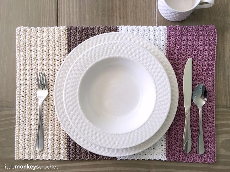Color Block Placemat Crochet Love It Kitchen And Home Pinterest