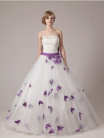 Dream Purple Butterfly A Line Wedding Dress Online