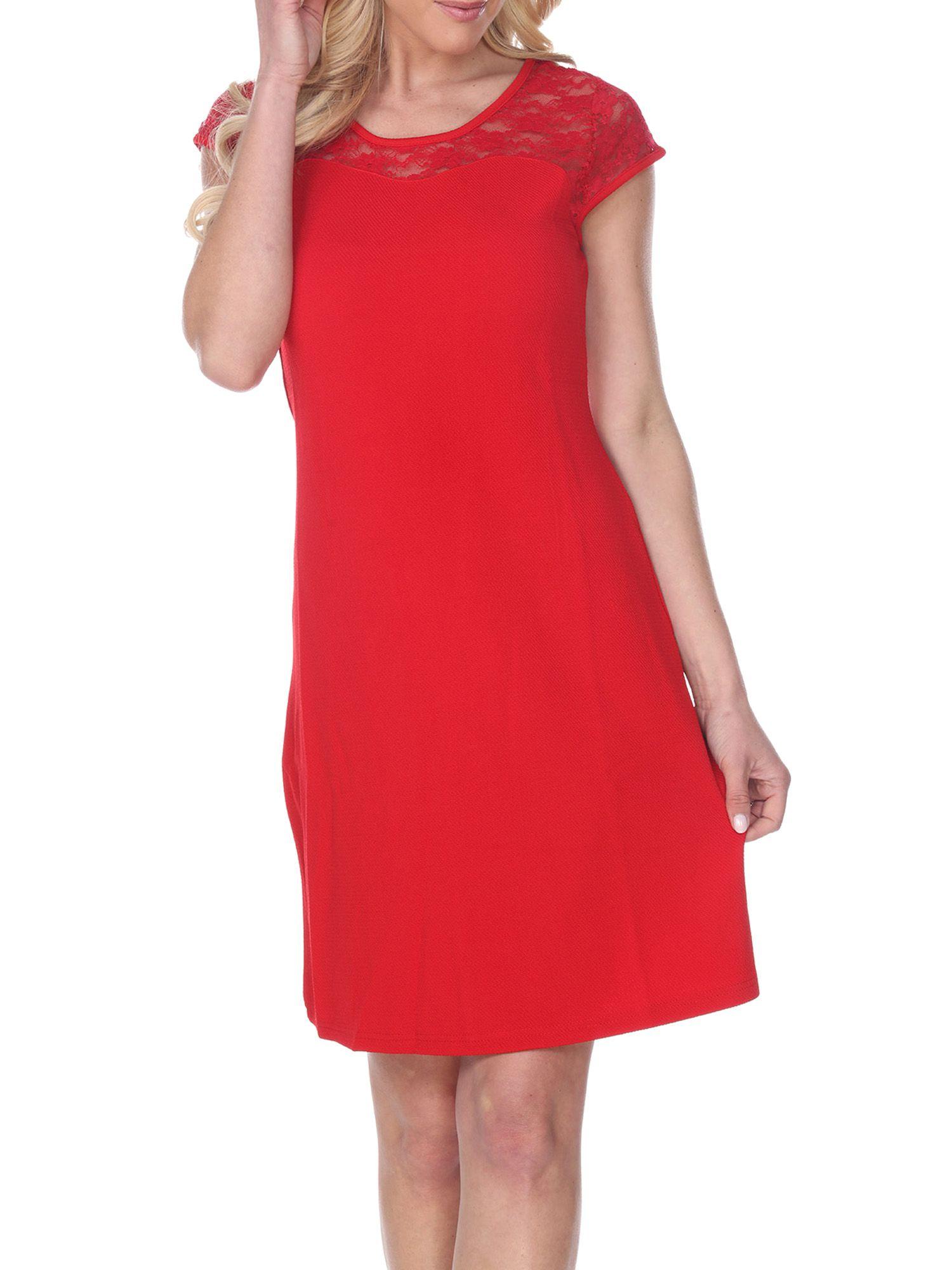 Women S Lace Detailed A Line Dress Walmart Com A Line Dress Women Lace Dresses [ 2000 x 1500 Pixel ]