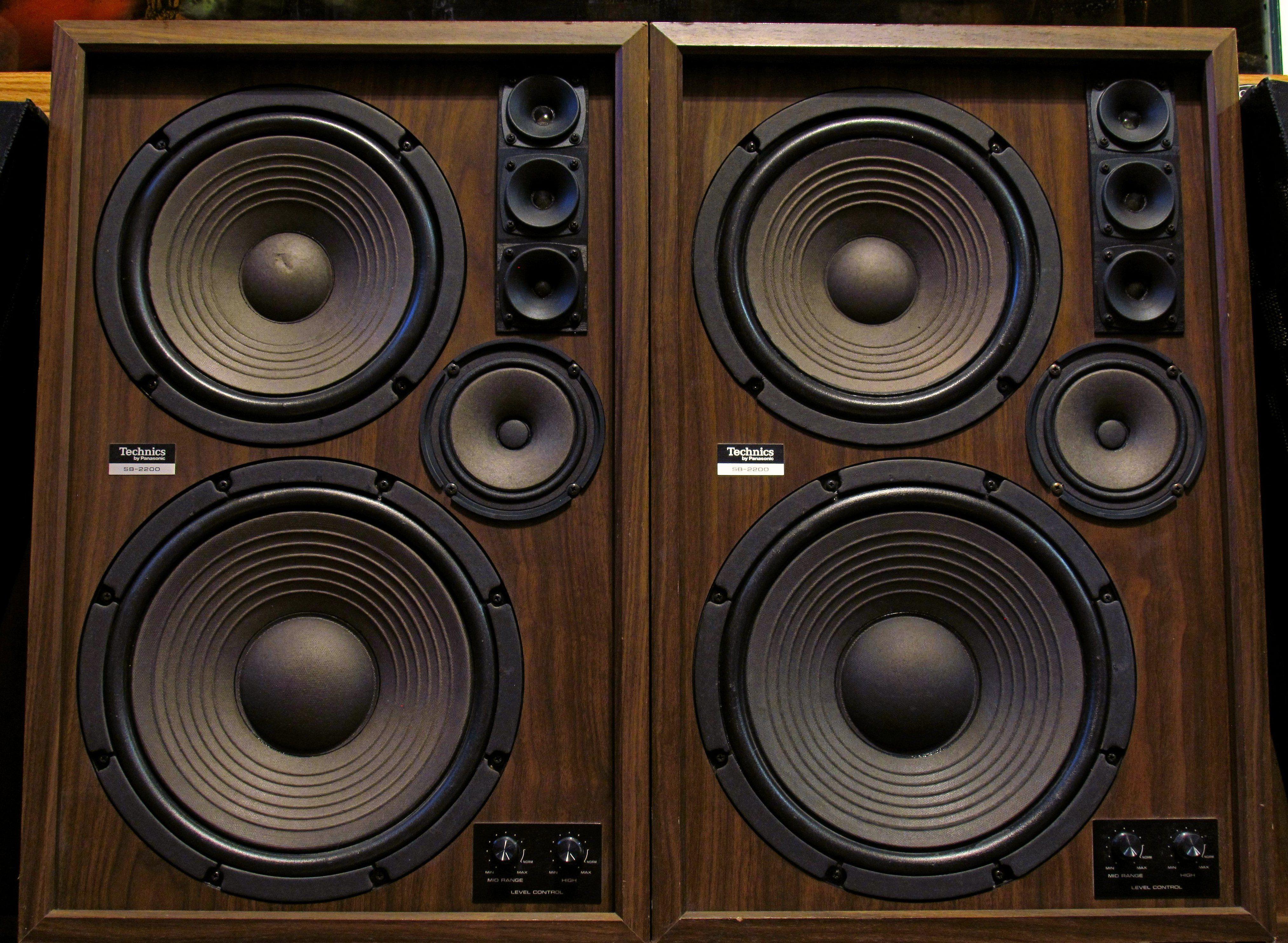 Technics By Panasonic Sb 2200 Speakers Vintage Speakers Hifi Audio Home Theater Sound System