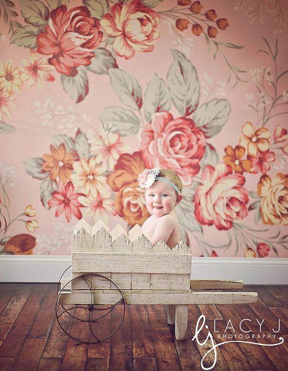 4ft x 4ft shabby chic wallpaper studio background pink floral rh in pinterest com
