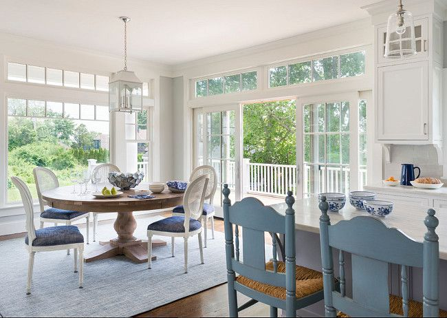 Benjamin Moore Gray Owl Kitchen And Breakfast Nook Eat In Features A Restoration Hardware