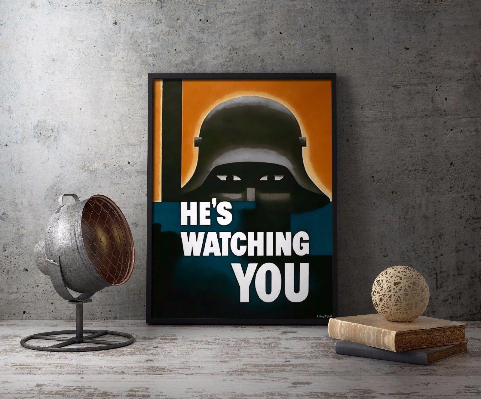 WW1 Propaganda Poster 11x17 German Soldier Stahlhelm