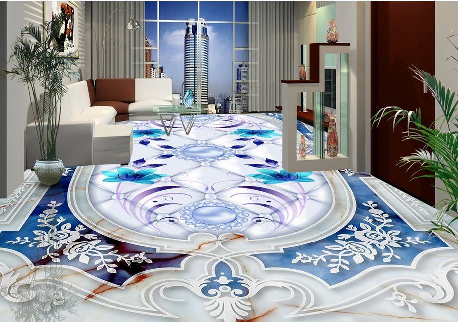Custom Wallpaper Vinyl 3d Floor Tiles Living Room Wallpaper Kitchen Medallion 3d Flooring Modern Wallpa Epoxy Floor Designs Floor Design Latest Kitchen Designs