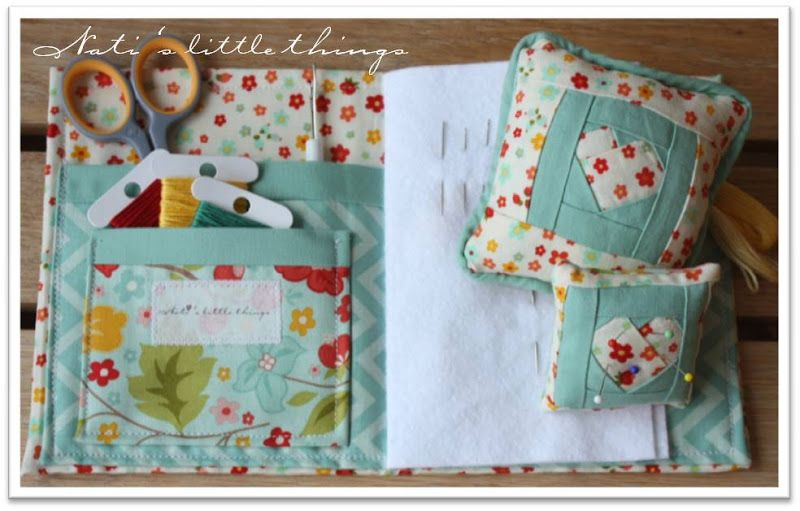 Heart Pincushion + needle case tutorial