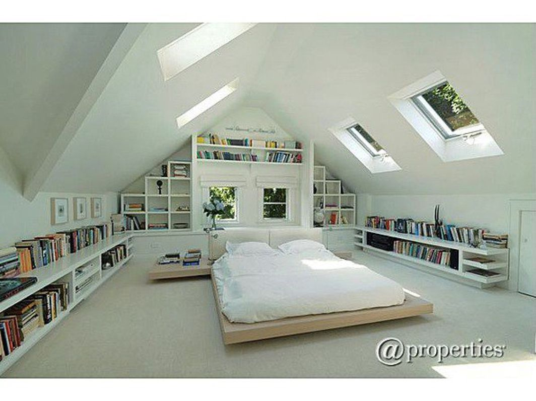 Loft bed ideas for low ceiling  Pin by Sarah Heinonen on Home  Pinterest  Attic Lofts and Bedrooms