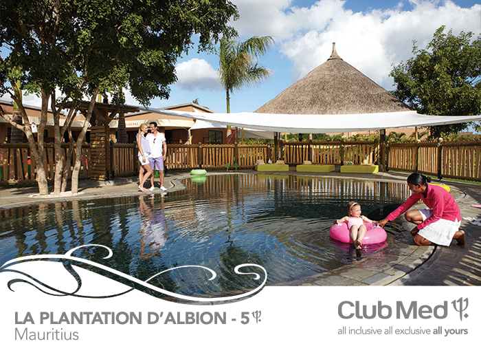 5T Club Med Resort in Mauritius. In a remote beauty spot