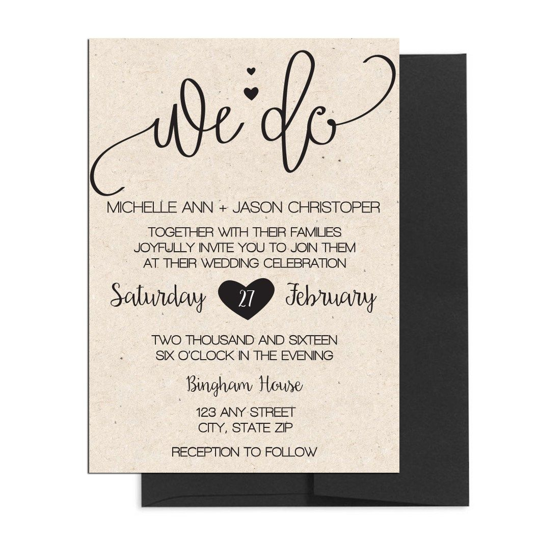 Cursive Wedding Invite. Click through to find matching games, favors ...