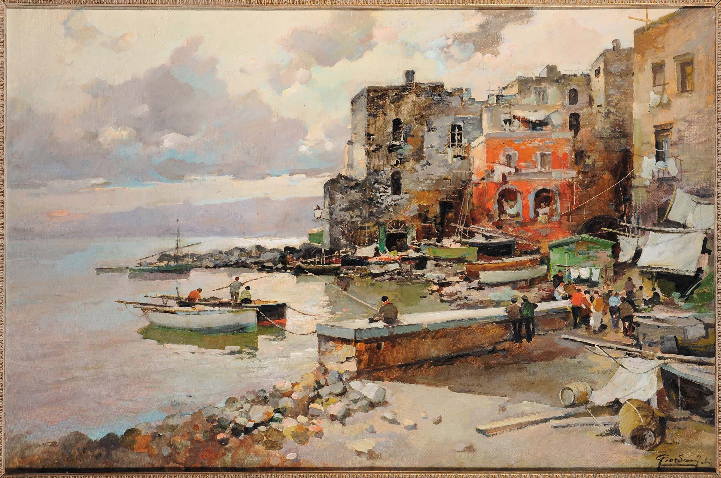 FELICE GIORDANO (18801964) MARINA GRANDE A CAPRI Art