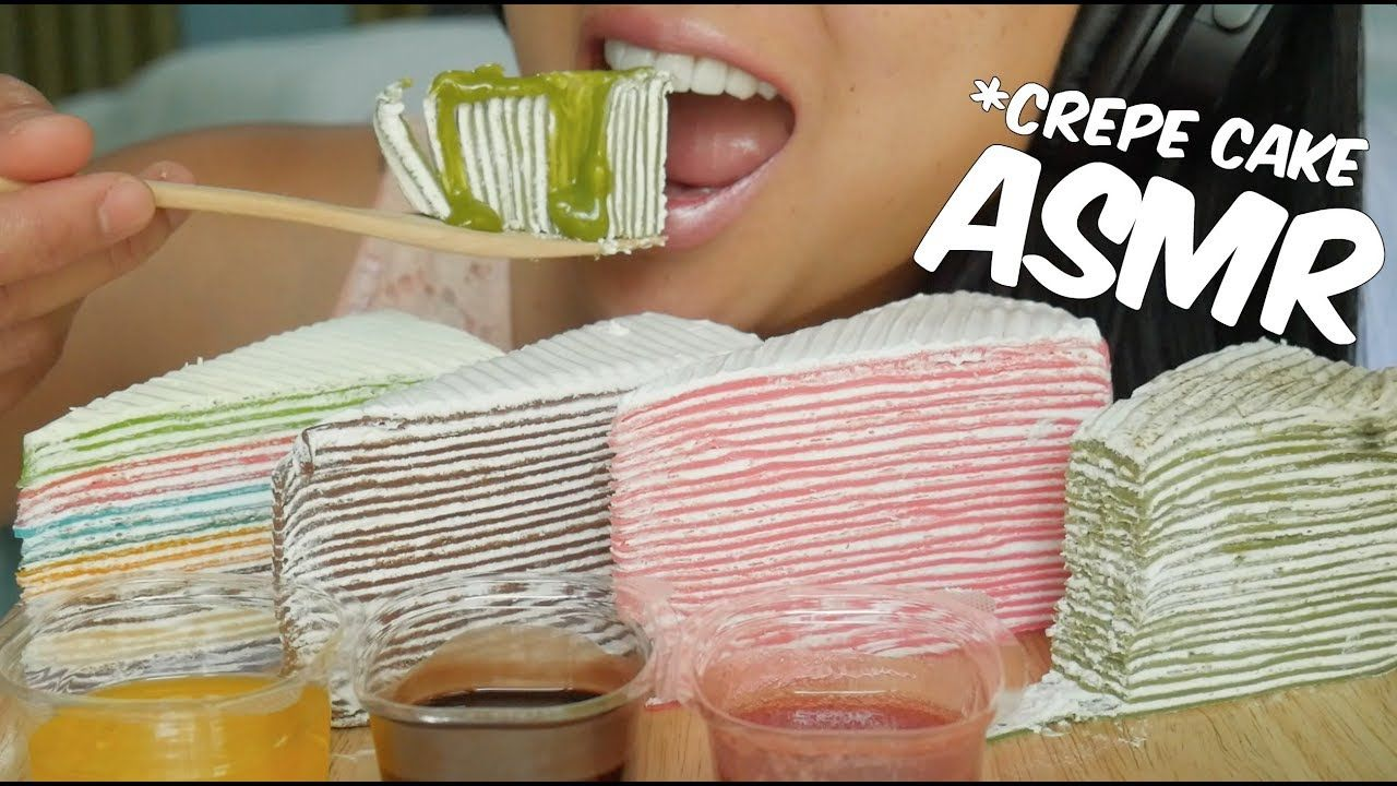 Asmr Crepe Cake Rainbow Strawberry Green Tea Choco No Talking Sticky Eating Sounds Sas Asmr Youtube Rainbow Cake Crepe Cake Asmr Pink got way better at asmr, but she needs to make up her own ideas and improve her video and eating quality so. pinterest