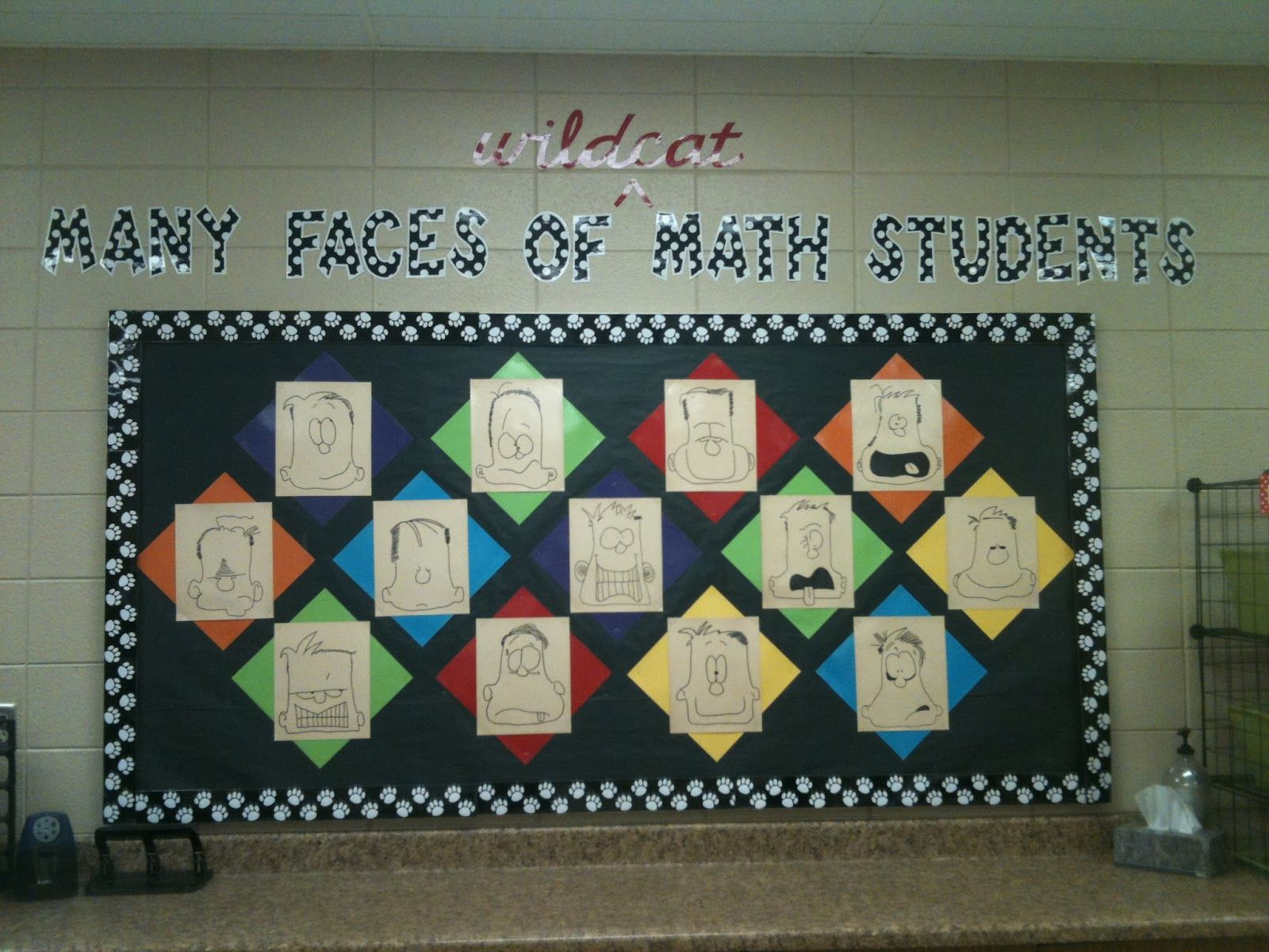 Middle school math bulletin boards classroom bulletin for Back to school board decoration
