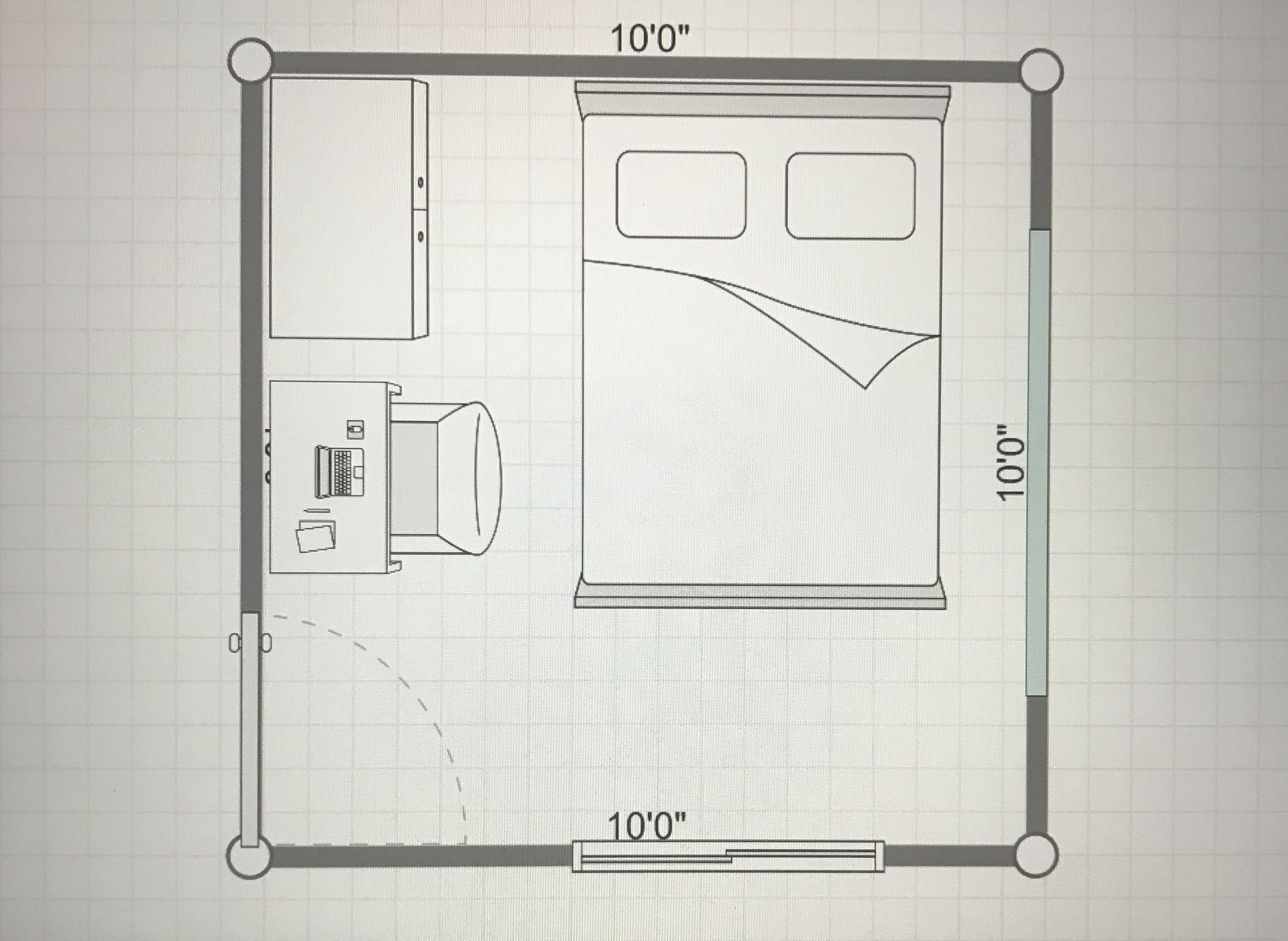 10x10 Room Small Bedroom Layout Bedroom Layouts Simple Bedroom