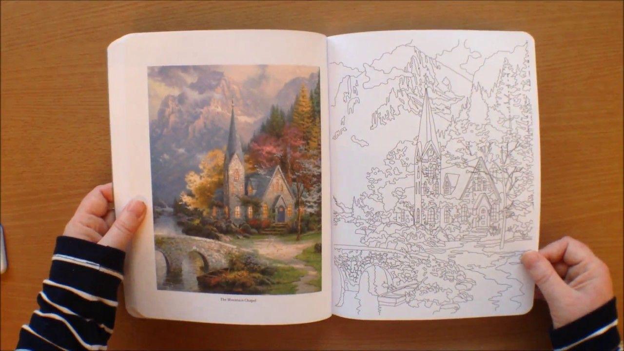 Posh Coloring Book Thomas Kinkade Painter Of Light Colouring Book Flip T Coloring Books Thomas Kinkade Painter