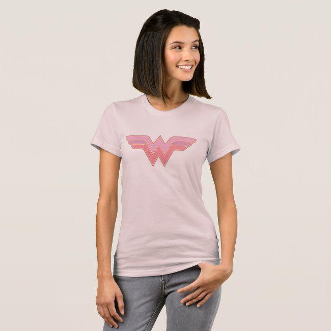 Wonder Woman Pink and Orange Mesh Logo T-Shirt #Sponsored , #Affiliate, #Mesh, #Logo, #Shirt, #Orange, #Shop