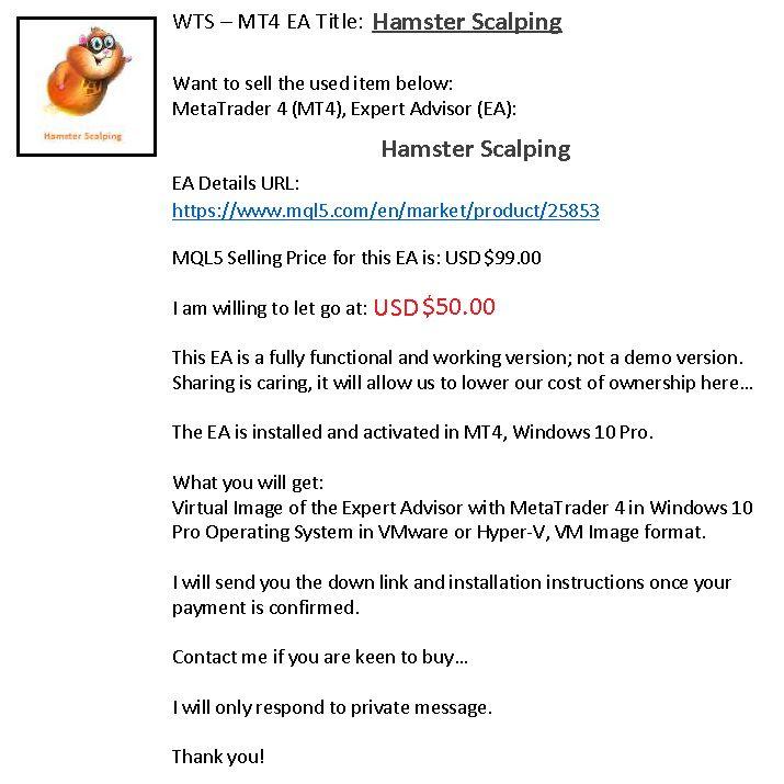 Hamster Scalping Ea Expert Advisors Mt4 Sell Marketing Tools