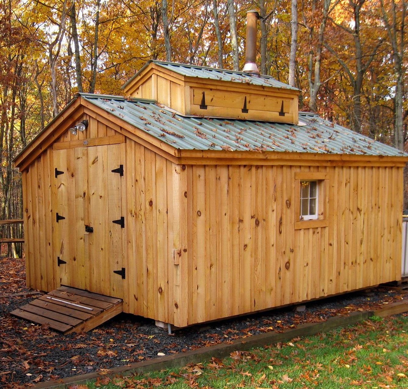12 u0027 x 16 u0027 sugaring shack available as a kit estimated assembly