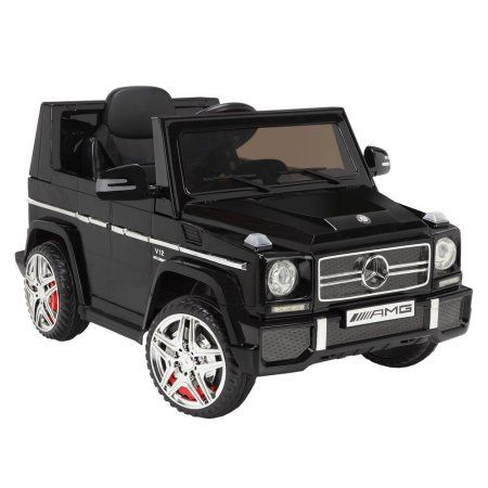 mercedes by zaap g65 12v ride on kids electric battery toy car black walmart