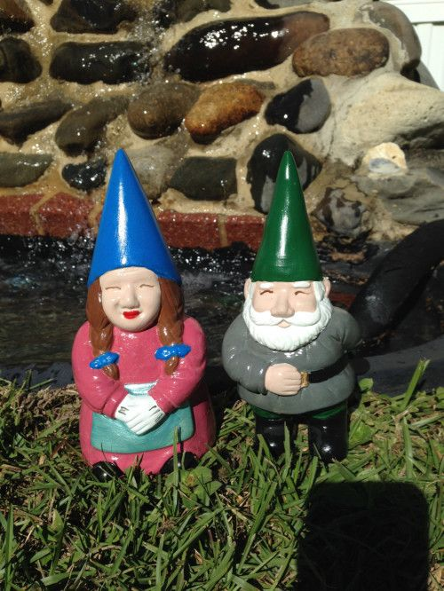 Male and Female Gnome Statues, Inside Decor,Outside Decor,Patio Decor