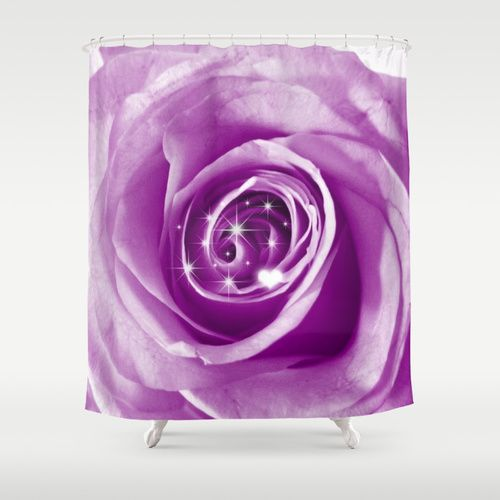 Trendy Bling on Rose,lilac Shower Curtain