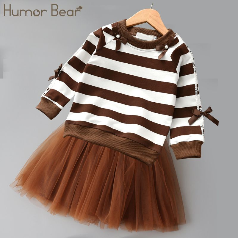 14b20caa4dc2 Humor Bear Baby Girl Clothes 2019 New Spring And Autumn Long Sleeve ...