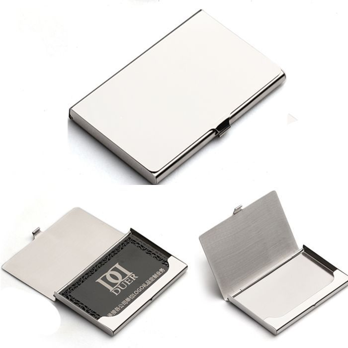 Stainless Steel Metal Business Card Holder Case Id Credit Wallet Silver H Ebay Metal Business Cards Business Card Wallet Card Box Holder