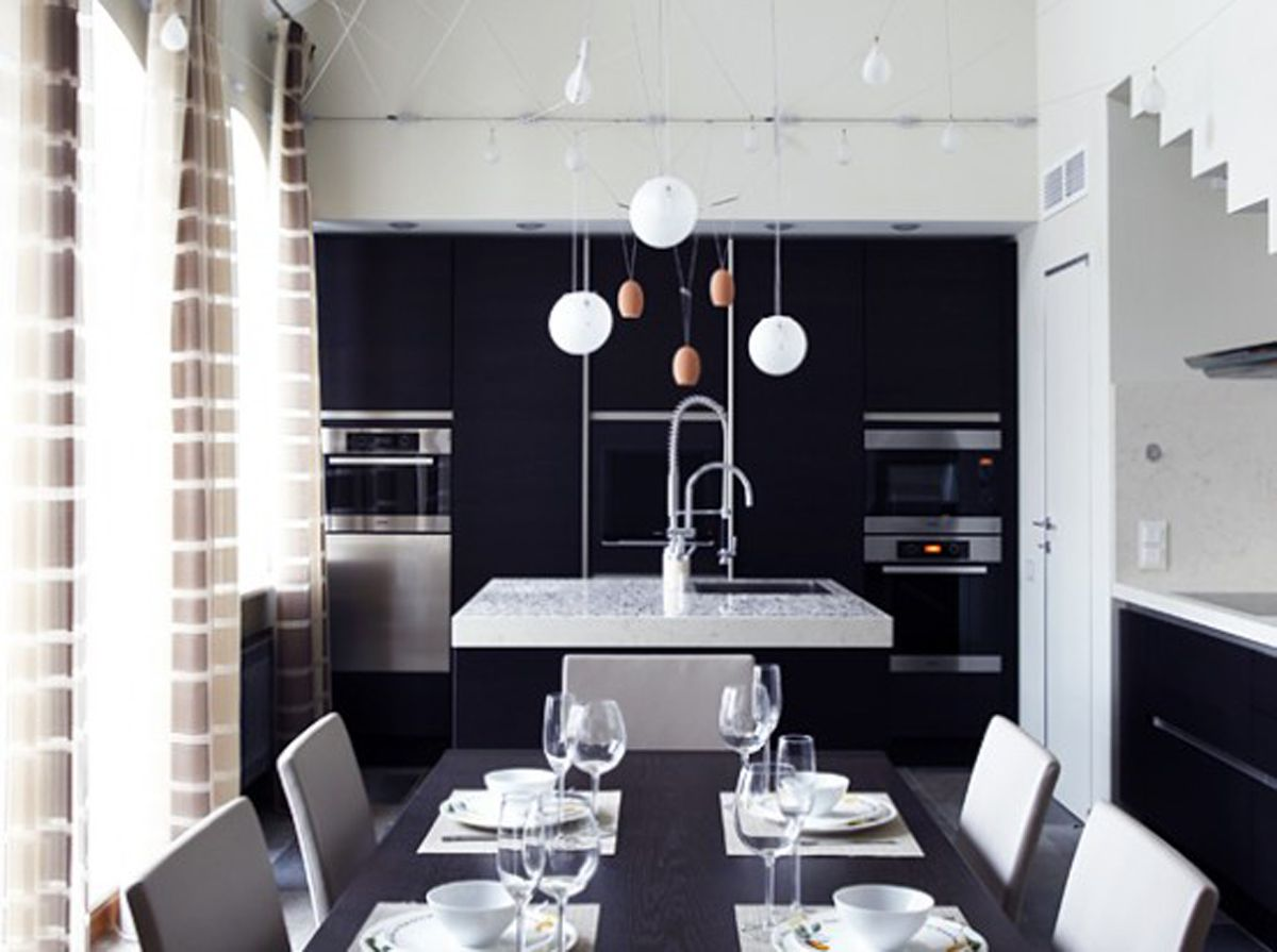 25 elegant black and white dining room designs architecture and rh in pinterest com