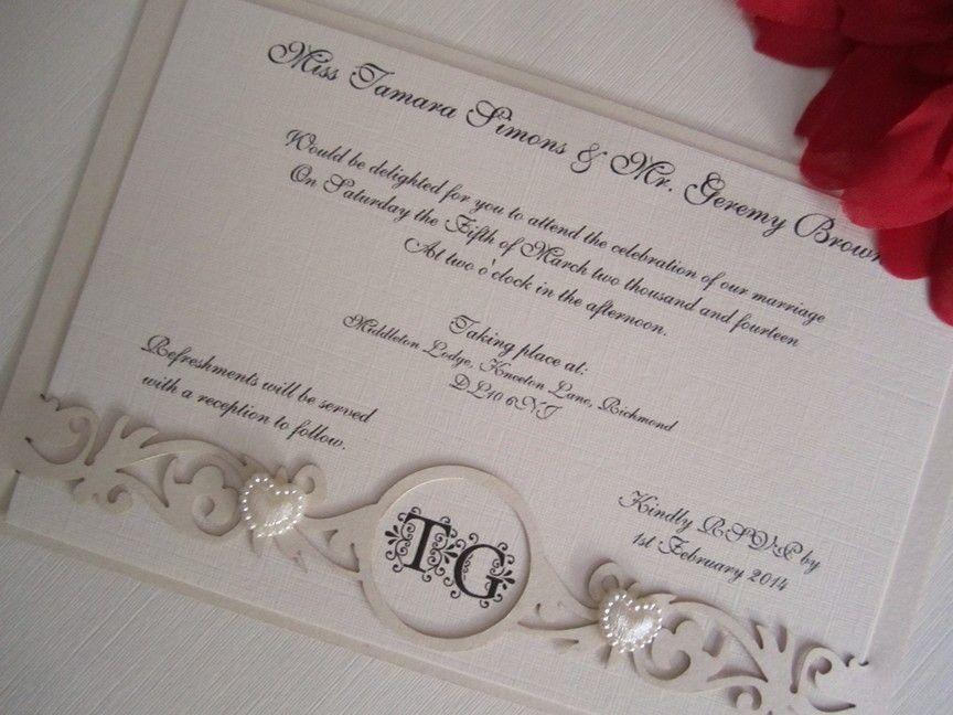 invitations to wedding%0A Laser cut filigree band wedding invitation by Creative Laser Cutouts