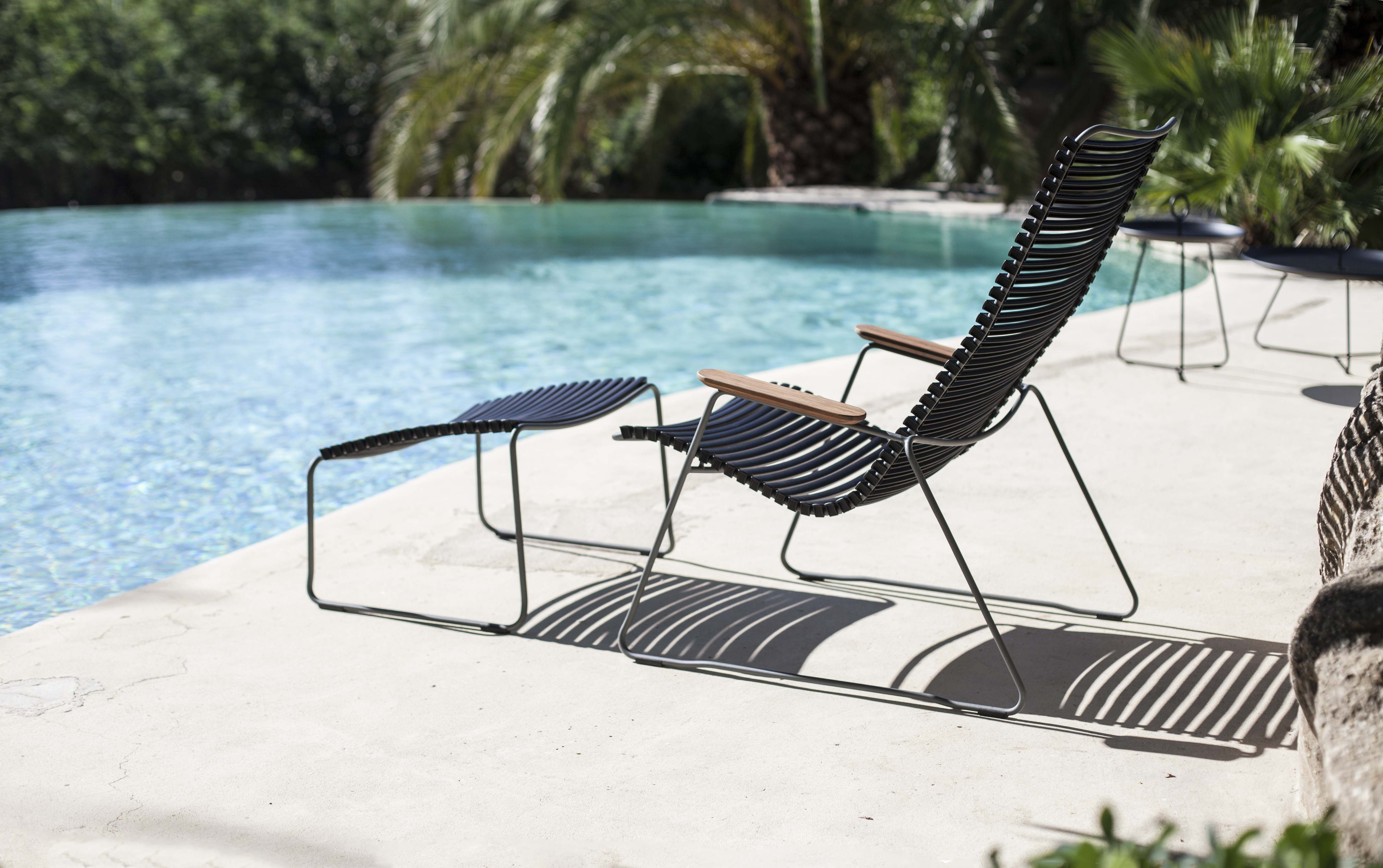 The Click Lounge Chair And Footrest From Danish Design House Houe Designed By Henrik Pedersen Outdoor Chairs Lounge Chair Outdoor Outdoor Settings