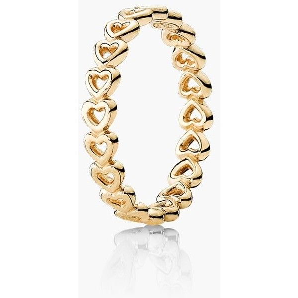 PANDORA Linked Love Ring $275 ❤ liked on Polyvore featuring