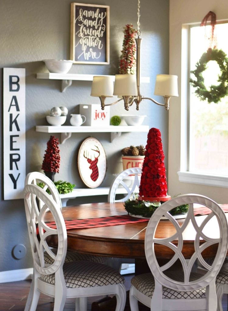 farmhouse dining room christmas decorations white colour finished rh pinterest com