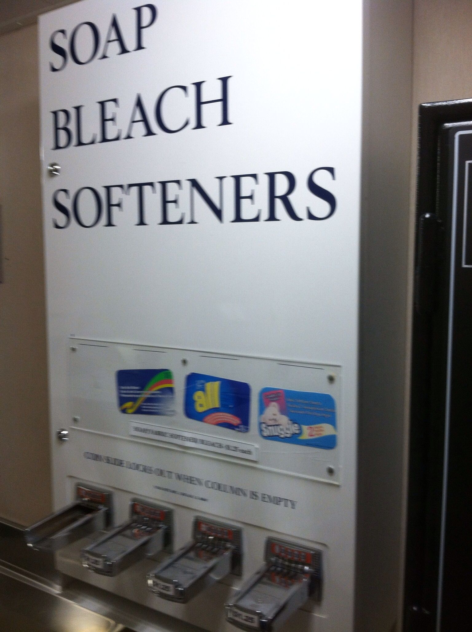 Caribbean Princess vending machine for laundry products