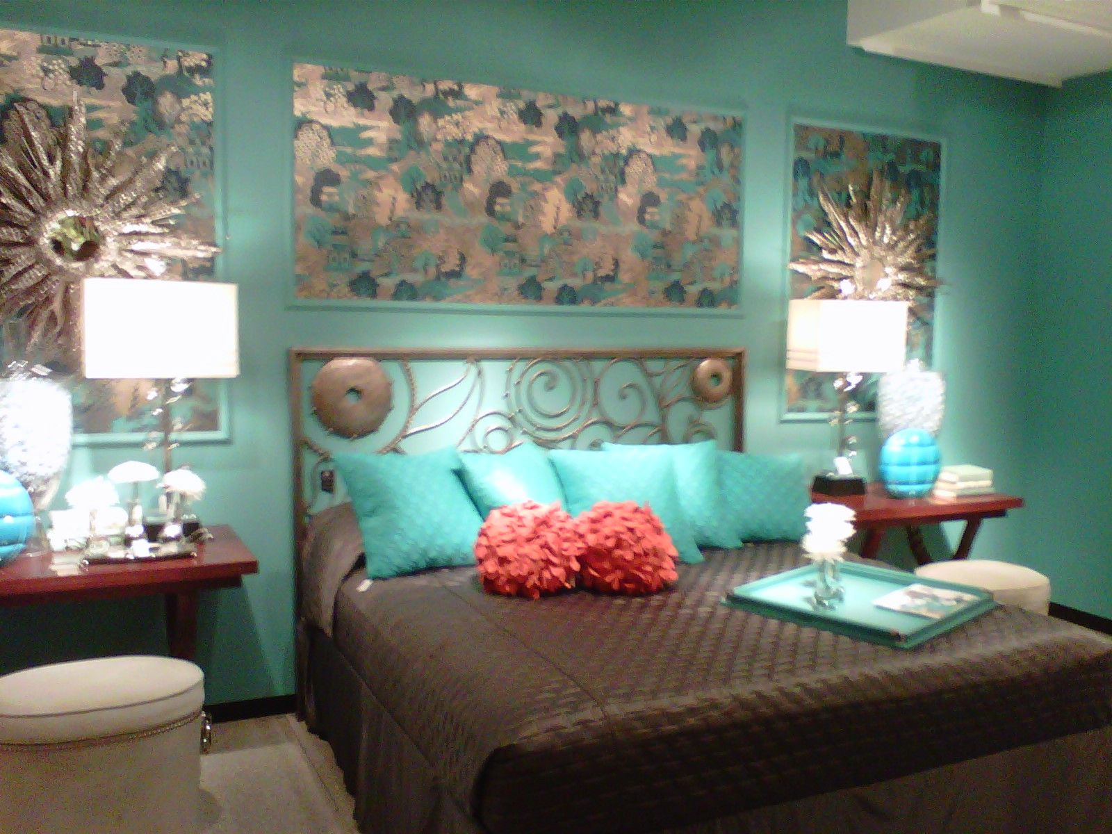 Turquoise room ideas decorations decor paint bedroom