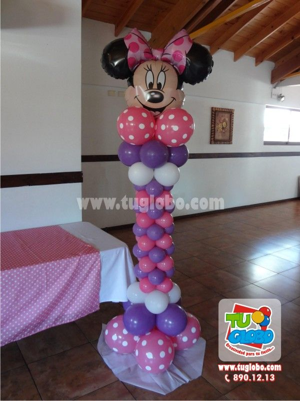 Minnie mouse balloons minnie mickey mouse party for Balloon decoration minnie mouse