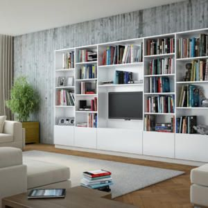billig b cherregal mit fernseher b cherregal pinterest regal wohnzimmer und schrank. Black Bedroom Furniture Sets. Home Design Ideas