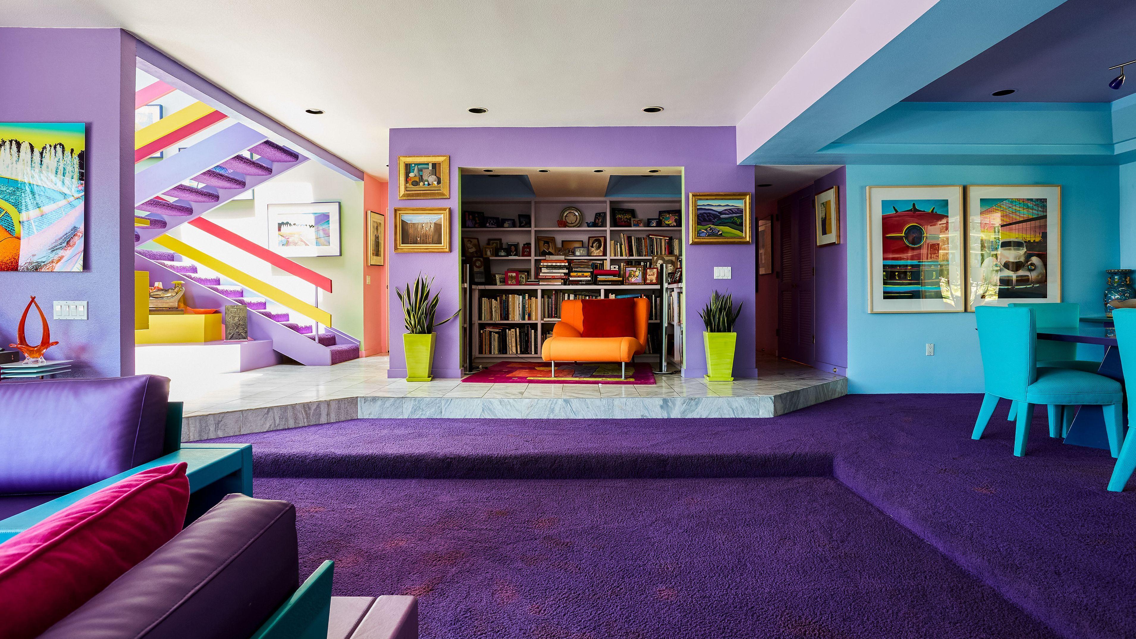 Artist S Home In Santa Barbara Is A Color Lover S Dream Home Decor Colors Colourful Living Room Italian Furniture Modern