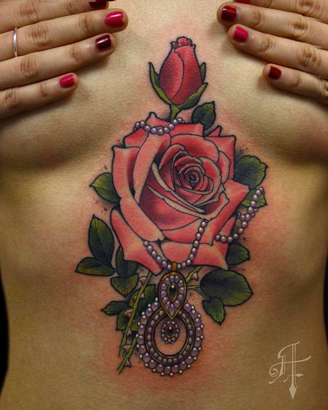 a931fbe2c Gypsy Rose Tattoo | Floral Sleeve | Tattoos, Pearl tattoo, Rose ...