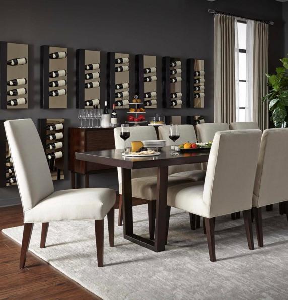 the organic edged metal based rosewood kimora dining table rh pinterest com