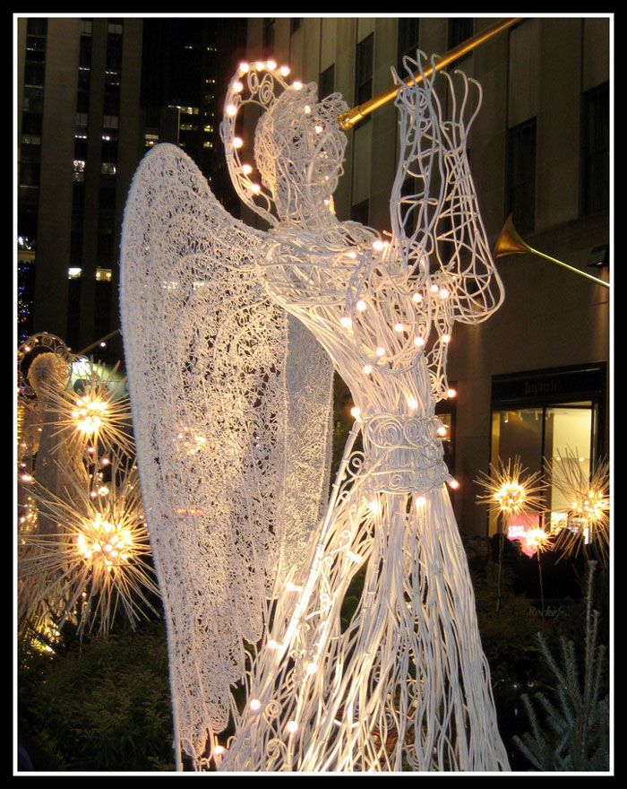 Superieur Lighted Angel In Christmas Outdoor Lighting