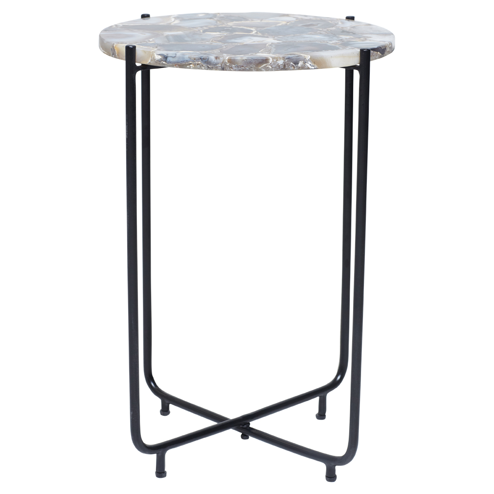 Casa agate side table side table table glass side tables