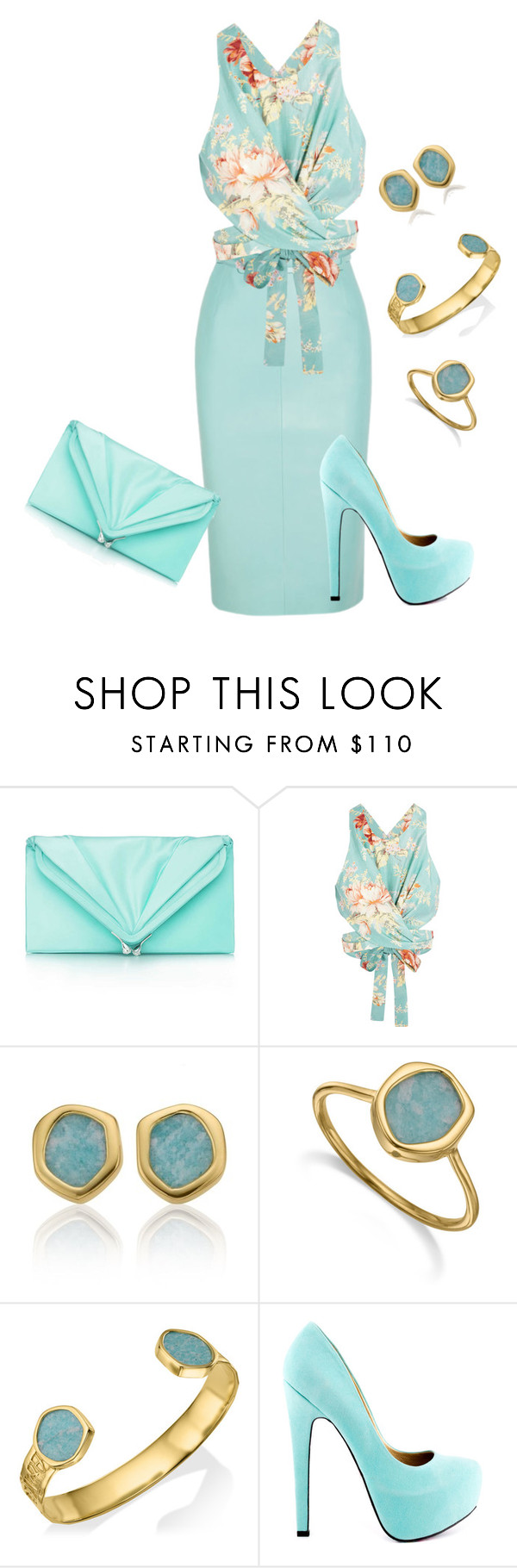 """""""Untitled #70"""" by lovelyluella ❤ liked on Polyvore featuring Balenciaga, Tiffany & Co., Zimmermann, Monica Vinader and TaylorSays"""