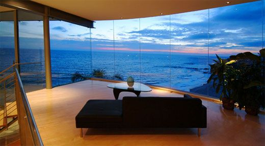 Glass Homes Beach House From Glass Stone And Steel By