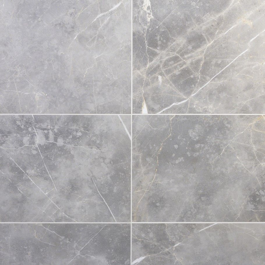 Marble Tech Grigio Imperiale 12x24 Matte Porcelain Tile In 2020 Marble Look Tile Porcelain Tile Polished Marble Tiles