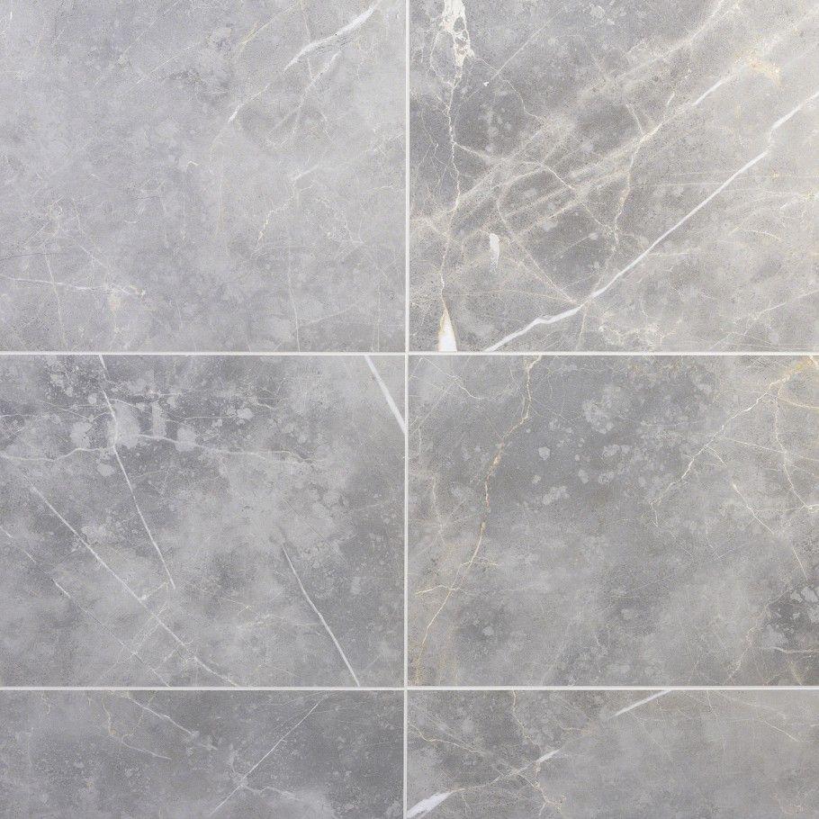 Marble Tech Grigio Imperiale 12x24 Matte Porcelain Tile In 2020 Marble Look Tile Porcelain Tile Polished Marble Tiles