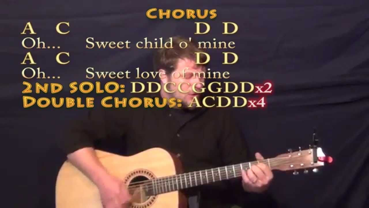Sweet Child of Mine (GNR) Strum Guitar Cover Lesson with