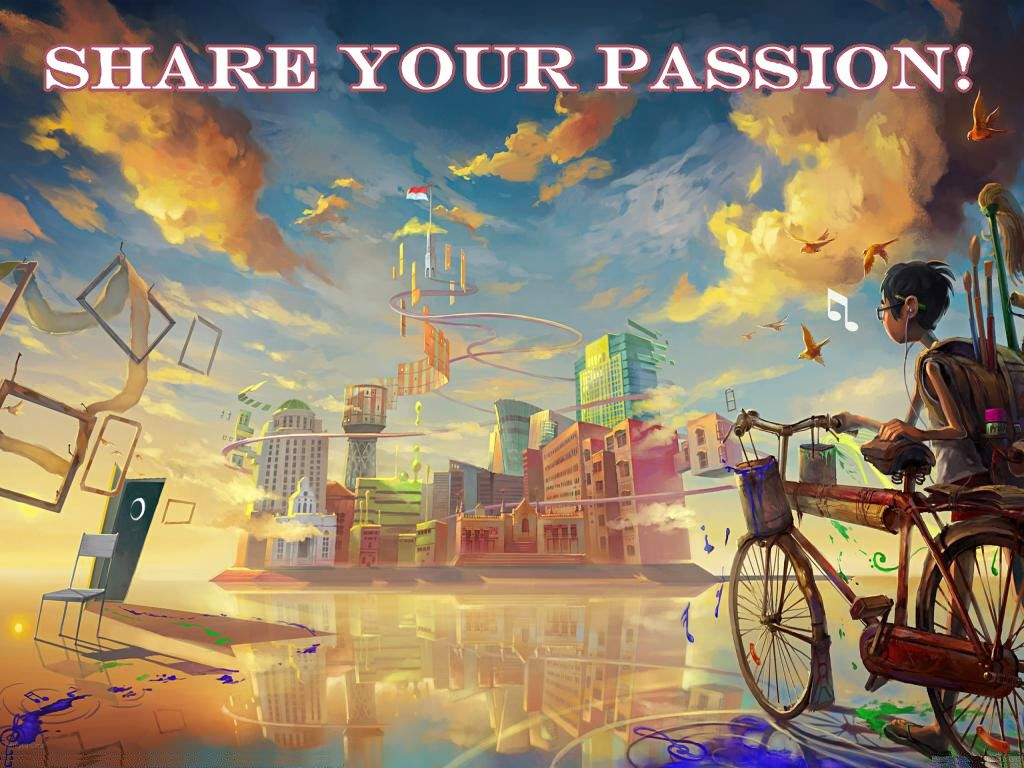 Share Your Passion Artistic Wallpaper City Drawing Art Wallpaper